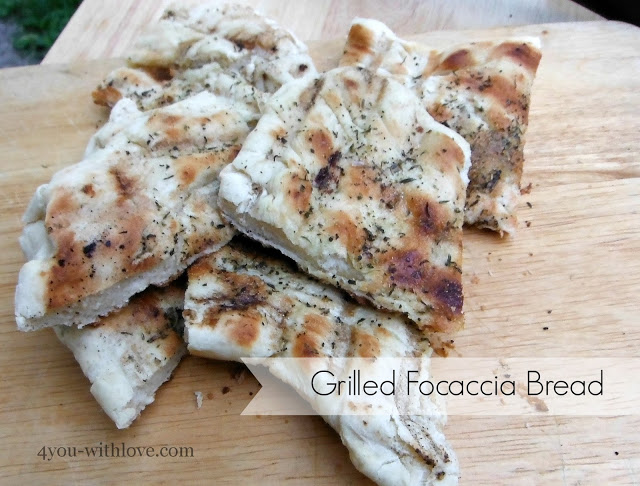 Party Thyme, Get Your Grill On – Grilled Focaccia Bread