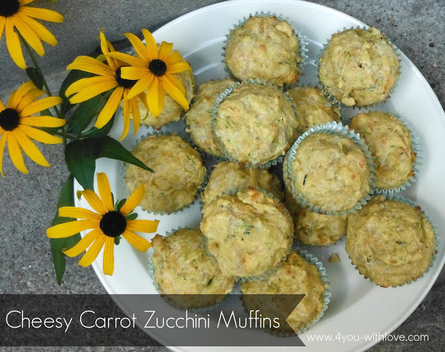Party Thyme, Preserving the Summer – Cheesy Carrot Zucchini Muffins