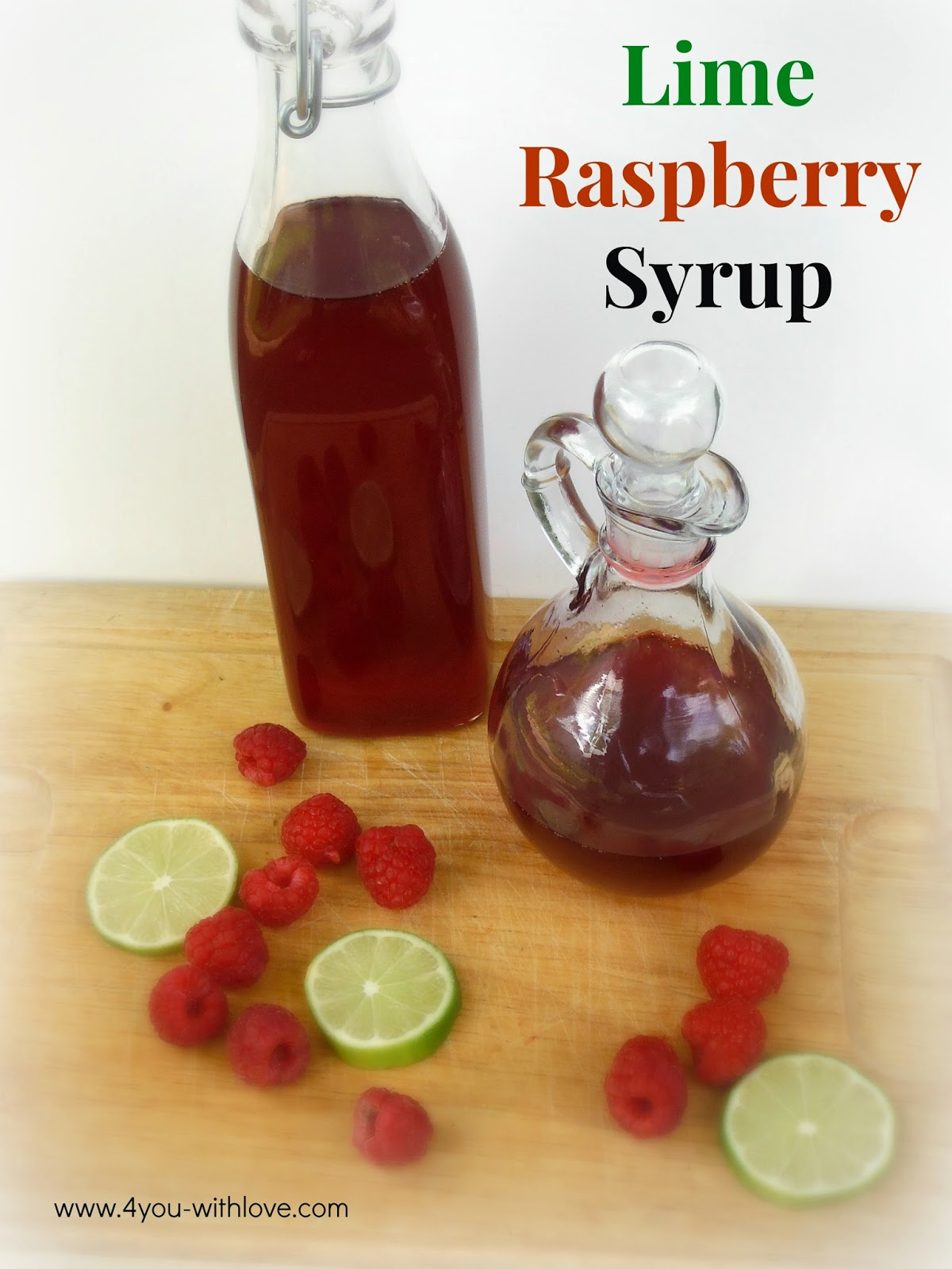 Make Your Own Lime Raspberry Syrup