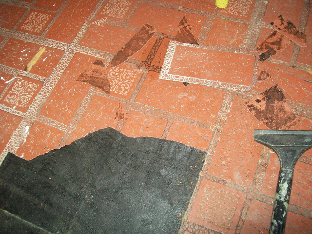 Paper Grocery Bags, Elmers Glue, Rit Dye & Polyurethane = Fabulous Floor! You're Kidding, Right?