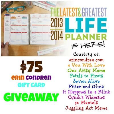 $75 Erin Condren #Giveaway