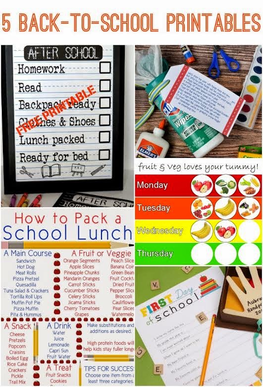 5 Back to School Printables & The Project Stash Link Party