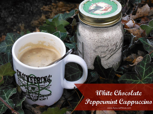 Instant White Chocolate Peppermint Cappuccino (#HomemadeHolidays)
