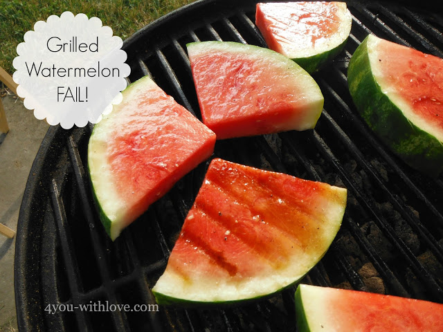 Party Thyme, Get Your Grill On – Grilled Watermelon FAIL!
