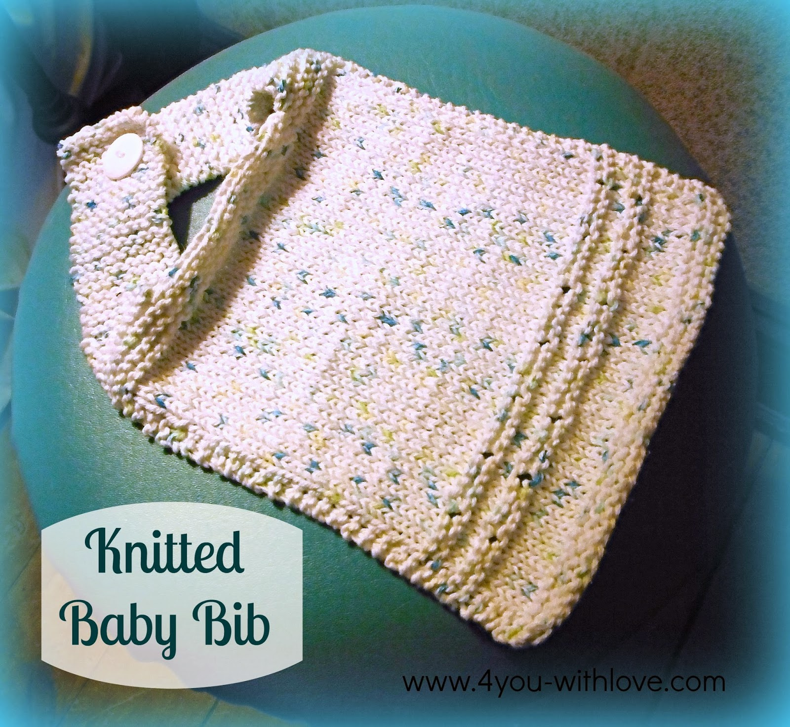 Free Pattern for a Hand Knit Baby Bib