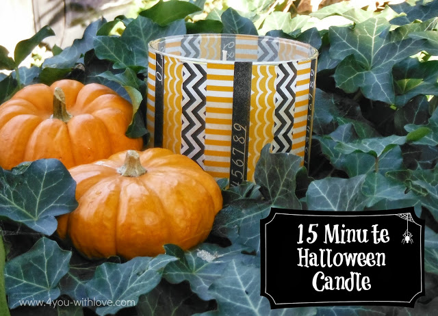 Turn Your #BathAndBodyWorks Candle into a Halloween Candle with Washi Tape!