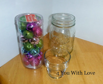 Homemade Holiday Inspiration Day 7 – Mason Jar Jingle Bell Votive Candle Holder
