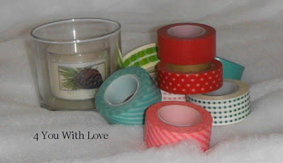 Homemade Holiday Inspiration Day 4 – Washi Tape Candle Holders