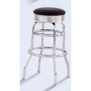 DIY Retro Chrome Kitchen Stool