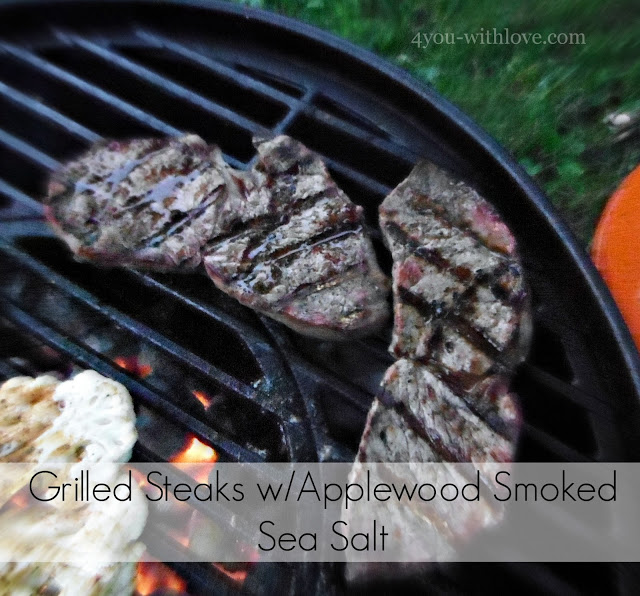 Party Thyme, Get Your Grill On – Grilled Steaks w/Applewood Smoked Sea Salt