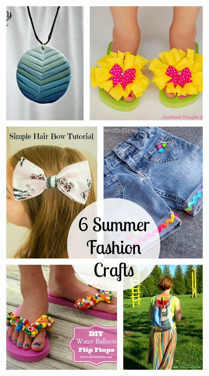 6 Summer Fashion Crafts & The Project Stash Link Party