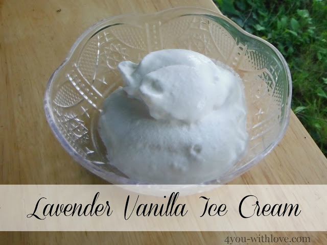 Party Thyme, Beat the Heat – Lavender Vanilla Ice Cream