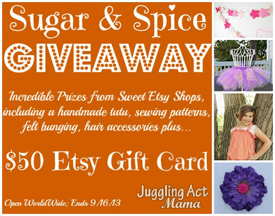 Sugar and Spice Giveaway – $50 Etsy Gift Card + 4 Handmade Items